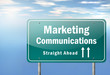 "Highway Signpost ""Marketing Communications"""