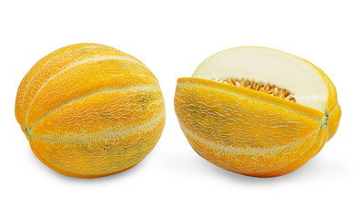 Two ripe melons