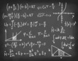 Equations on blackboard.