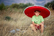 Young boy with sombrero