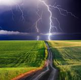 Fototapeta tło - piękny - Burza / Burza z piorunami