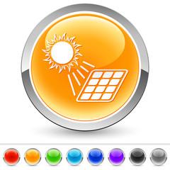 Sonne und Solarmodul