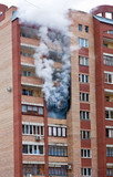 Fire in one of the apartments of a large tenement-house poster