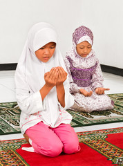 Muslim Children Praying