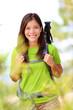 Hiker portrait - hiking woman