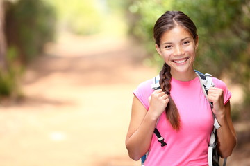 Hiker woman - hiking portrait