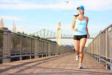 Running in city