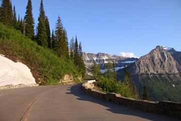 Going to the road in Glacier national park