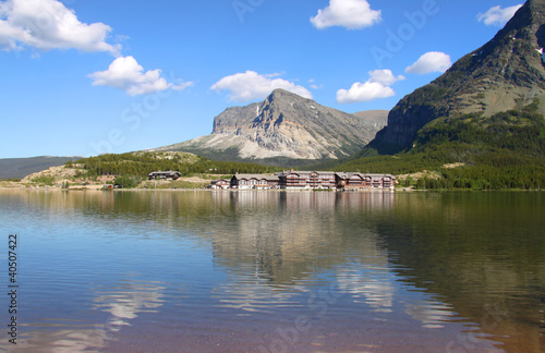 Many Glaciers resort in Glacier national park