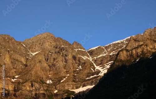 Rocky mountains range in Glacier national park ,Montana