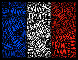 France national flag graphic illustration