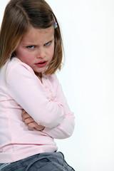 Child having a temper tantrum