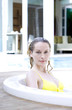 Woman relaxing in a jacuzzi
