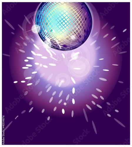 Shiny disco ball on nightclub