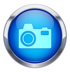 Metalik çerçeveli fotoğraf makinesi