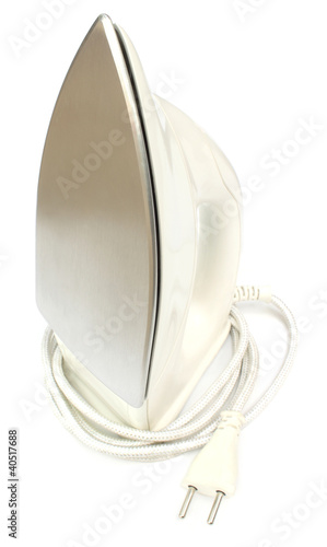 Electric iron over white background