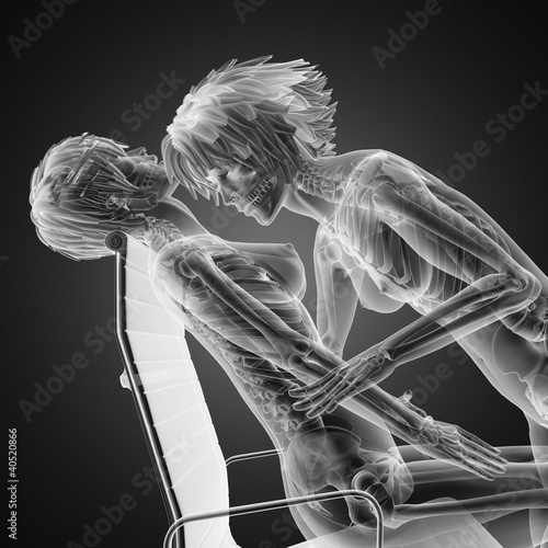 Sexy  lesbians in radiography scan