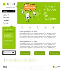 Vektor Website Design Template