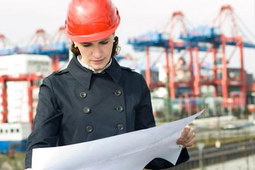 Female civil engineer