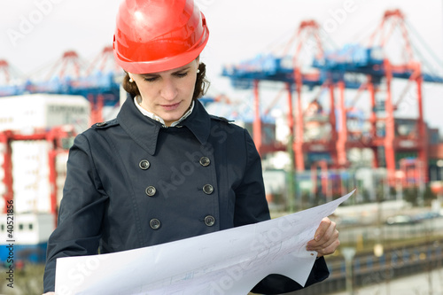 Female civil engineer
