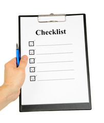 Checklist and Clipboard