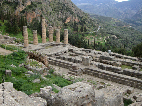 Ancient Temple of Apollo, Delphi, Greece