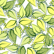 Abstract seamless spring pattern