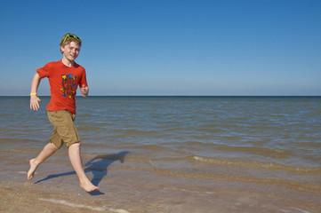 Laufen am Sandstrand