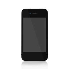 smartphone  front on blank