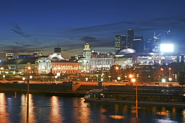 Moscow, Russia. Night. View from the embankment