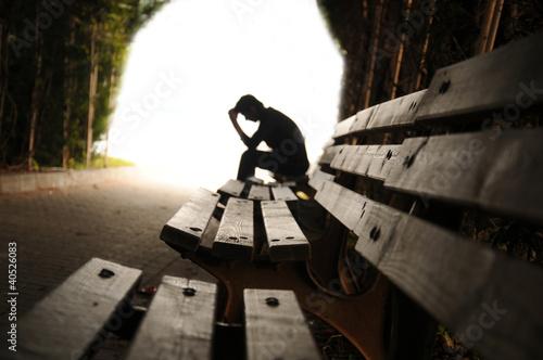 Leinwanddruck Bild Depresyon