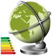 globe terrestre et l'énergie