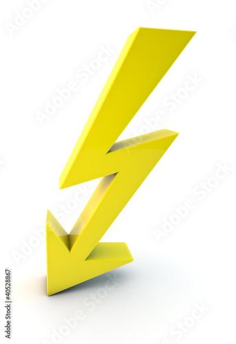 blitz lightning symbol 3d