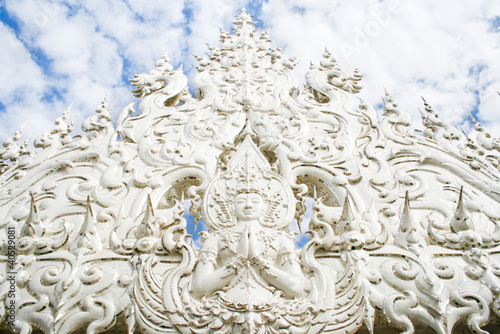 White temple in Chiang Rai , Thailand