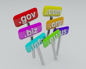 Domain names on the table (RENDER)