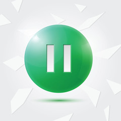 Green Pause button