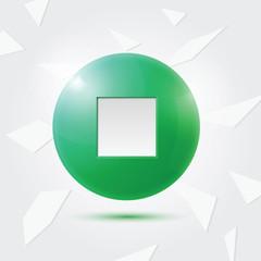 Green Stop button