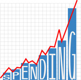 Government big spending deficit chart poster