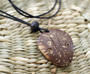 wooden indian amulet