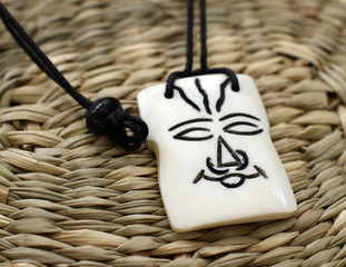 wooden african amulet