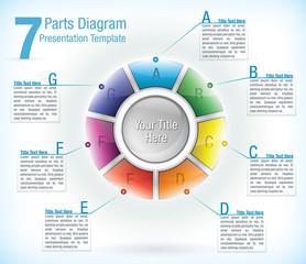 Segmented wheel presentation template