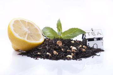tè con linone e menta
