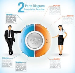 Colourful segmented wheel format presentation diagram