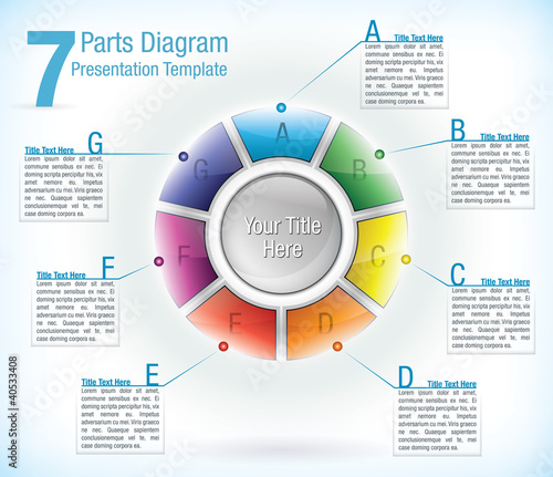 Segmented wheel presentation template