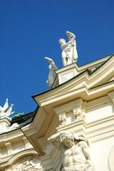 Statua del tetto del Belvedere