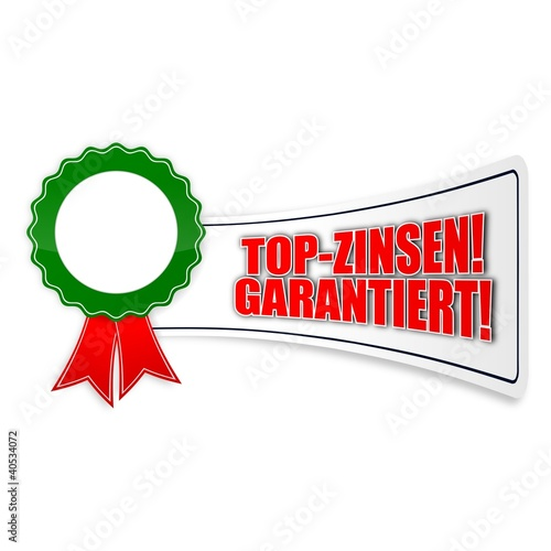 sticker siegel top-zinsen garantiert 1