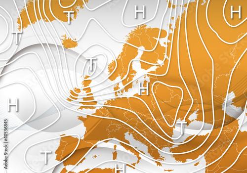 Wetterkarte Europa Hintergrund