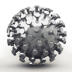 Mecha Ball, Bolts in Fibonacci / Golden Ratio Pattern