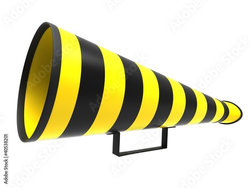 Retro megaphone in a yellow and black colors