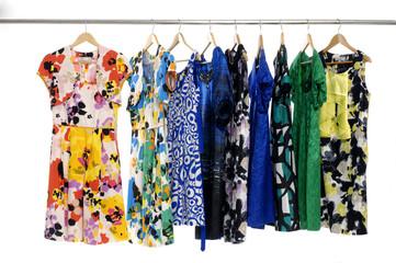 Designer fashion clothing rack display